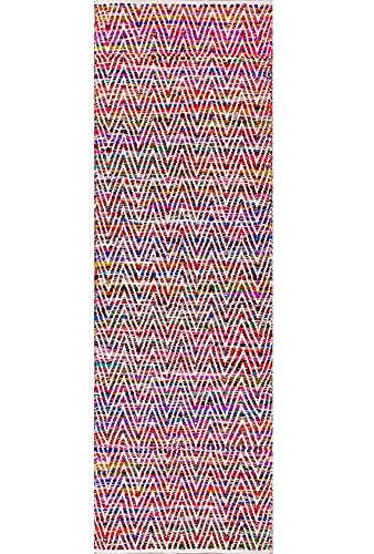 """nuLOOM 200VIAG01A-2608 Runner Rug, 2' 6"""" x 8', Magenta - Made in India PREMIUM MATERIAL: Crafted of durable synthetic fibers, it has soft texture and is easy to clean SLEEK LOOK: Doesn't obstruct doorways and brings elegance to any space - runner-rugs, entryway-furniture-decor, entryway-laundry-room - 61OshDM0WtL -"""