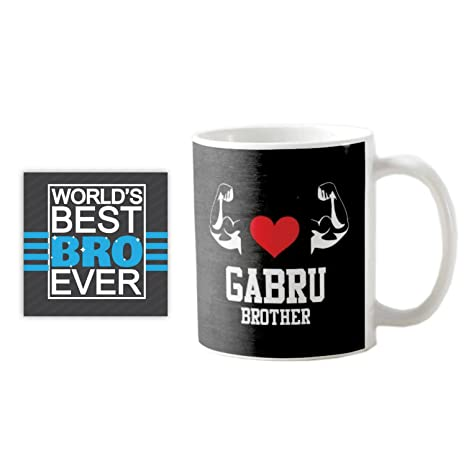 Buy YaYa CafeTM Brother Gabru Quote Printed Mug 330 Ml Birthday Gifts Rakhi Online At Low Prices In India