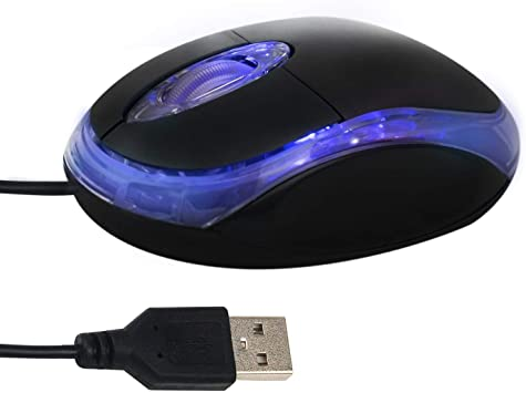USB 2.0 Optical Wired Scroll Wheel Mouse Mice for PC Laptop Notebook Desktop Red