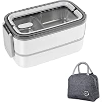 Stainless Steel Heated Lunch Box - Insulated Bento Box Multifunctional-Containers Lunch Box Containers with 2…