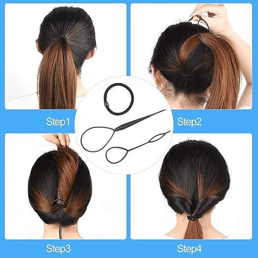 Frisurenhilfe Set Mit Bedienungsanleitung Einfache Frisuren Zum Selbermachen Frisur Hilfe Set Fur Lange Haare Mit Zubehor Haar Styling Set