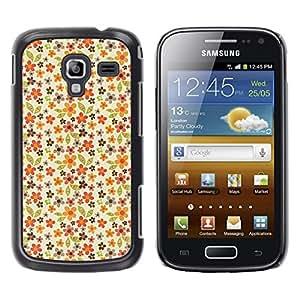 TopCaseStore / la caja del caucho duro de la cubierta de protección de la piel - Pattern Pastel Flowers Wallpaper - Samsung Galaxy Ace 2 I8160 Ace II X S7560M