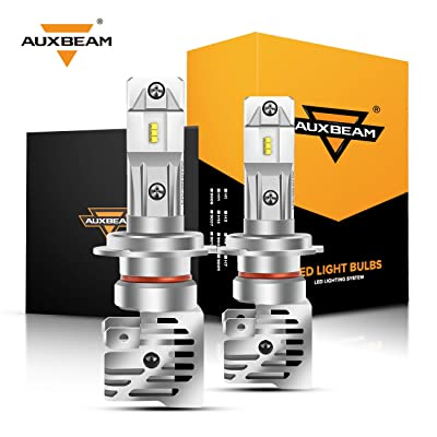 Auxbeam H7 Led Headlight Bulbs F-M3 Series 50W 5000lm 6500K ZES LED Chip Single Beam Headlight Conversion kit: Automotive