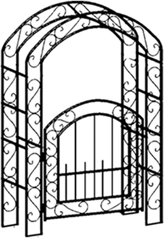 Arco de jardín con portón, soporte de planta Arco de enrejado de jardín para plantas trepadoras Bastidor de soporte de enredaderas de rosas, jardín al aire libre Jardín Patio trasero Patio: Amazon.es: