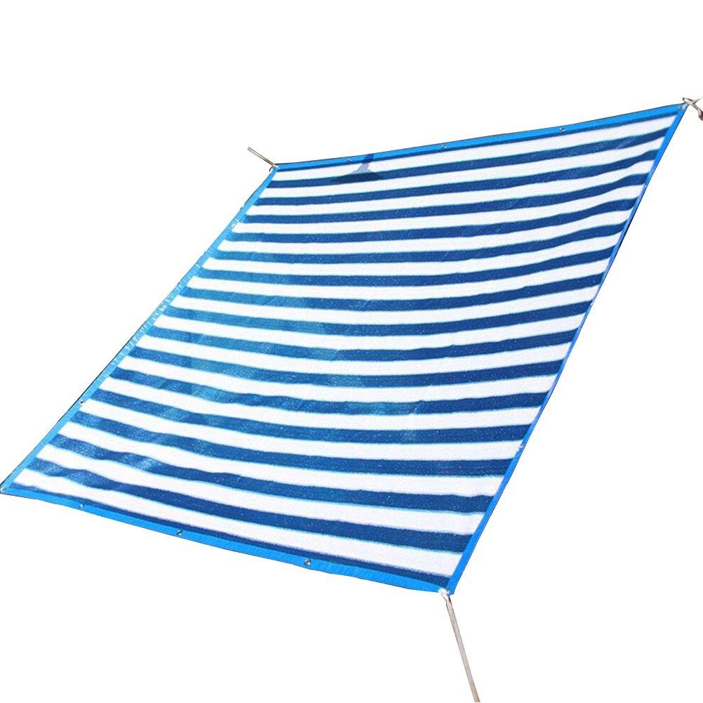 bleu and blanc - 4x5m  CAOYU Filet d'ombrage, Maison Balcon Ombre Filet Fleur charnue Plante Isolation Net 6 Aiguille ombrage Net