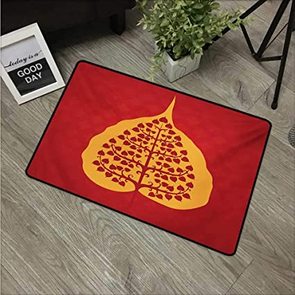Amazon.com: HRoomDecor Leaf,Outdoor Floor Mats Artistic ...