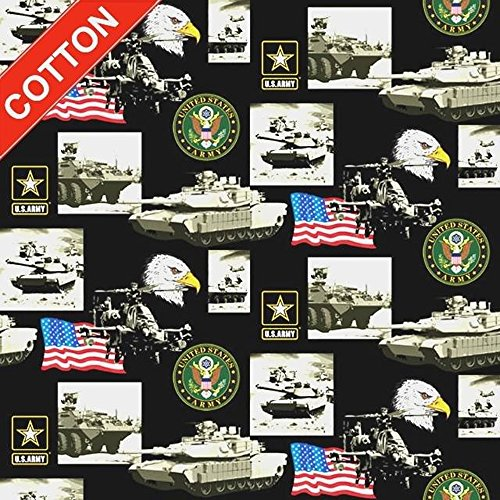 United States Army Cotton Fabric - US Military Branches - St