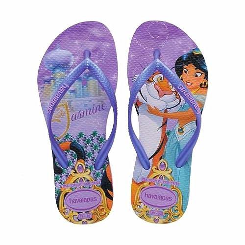 prezzo limitato acquista per ufficiale prezzo all'ingrosso Havaianas Slim Kids Princess Jasmine Tiger Purple Rubber ...