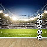 azutura Football Stadium Wall Mural Football Soccer Photo Wallpaper Boys Bedroom Decor available in 8 Sizes XXX-Large Digital
