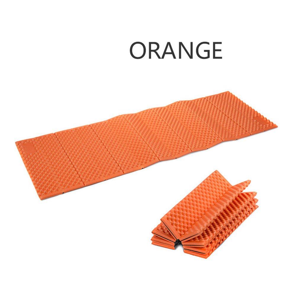 防水アウトドアキャンプピクニックマットクッションポータブル折りたたみテントSleeping Pad B06XFWGNQ6  オレンジ