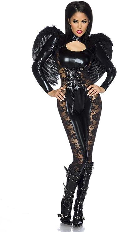 Atixo – Black de Angel de Halloween Disfraz de – negro: Amazon.es ...
