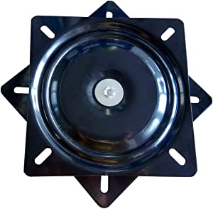 """MySit 10"""" (245mm) Square Swivel Replacement for Recliner Chair or Furniture - Ball Bearing Swivel Plate Mechanism - Flat (SwivelPlate_10)"""