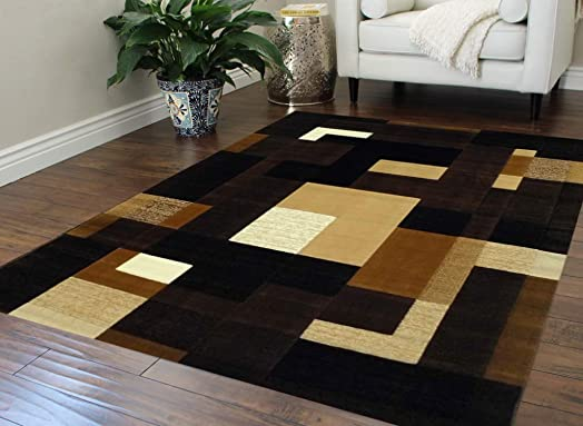 Modern Chocolate Area Rug 560 Extacy 8 Ft. X 10 Ft.