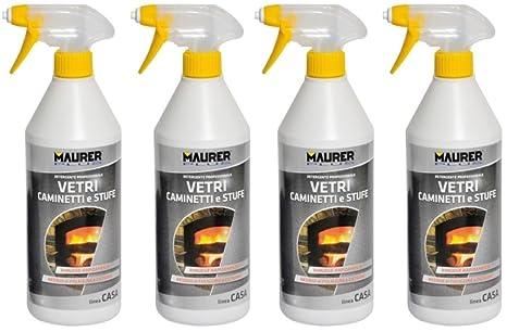 Maurer Plus - Limpiador desengrasante para cristales de chimeneas y estufas, 750 ml, lote