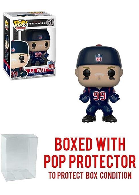 reputable site b0824 5dd9e Amazon.com: Pop! NFL's: J.J. Watt Color Rush Blue Jersey ...