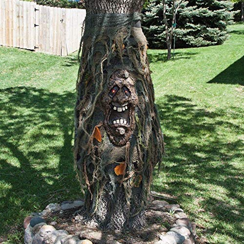 TREE GHOST WITH LED FLASHING EYES OUTDOOR HALLOWEEN PROP DECORATION