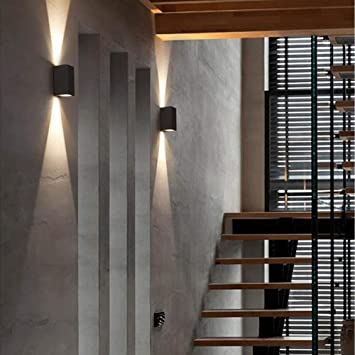 Linterna de Pared Lámpara de Jardín Lámpara de Pared Colgante Lámpara de Pared Lámparas Exteriores Lámparas Aplique de Pared, Led 6W Ip65 Lámparas de Pared Modernas Lámparas de Aluminio Arriba para P: