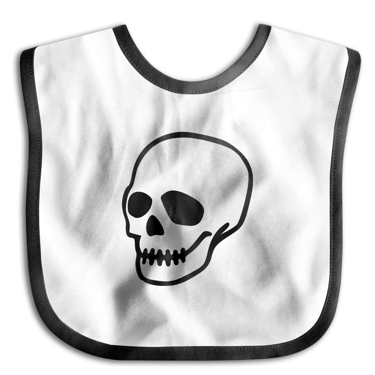 Sugar Skull Funny Baby Bibs Burp Infant Cloths Drool Toddler Teething Soft Absorbent