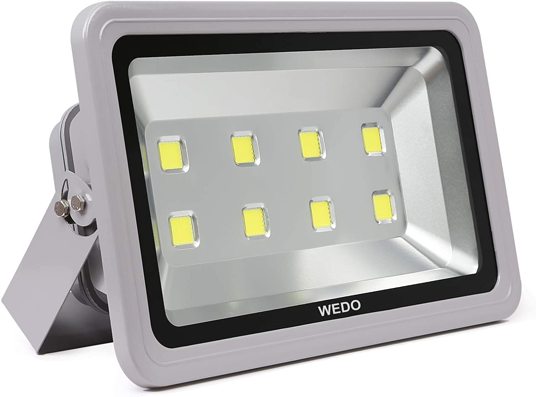 WEDO 400W LED Flood Light Outdoor, Super Bright 32000LM Floodlight IP66 Waterproof 5700K Dalylight White Exterior Work Light for Backyard Garage Basketball Court