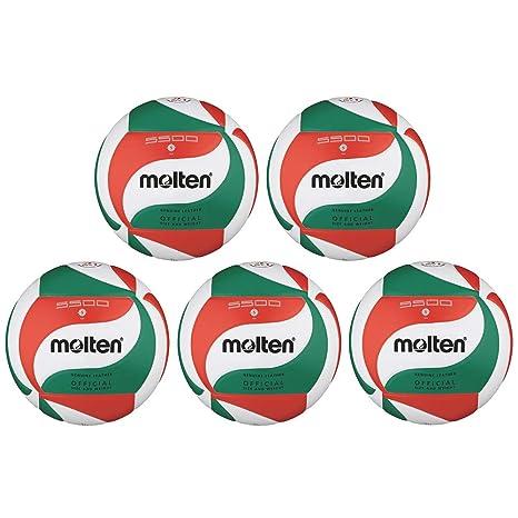Fan Sport 24 Molten V5M5500 - Pelota de Voleibol (5 Unidades ...