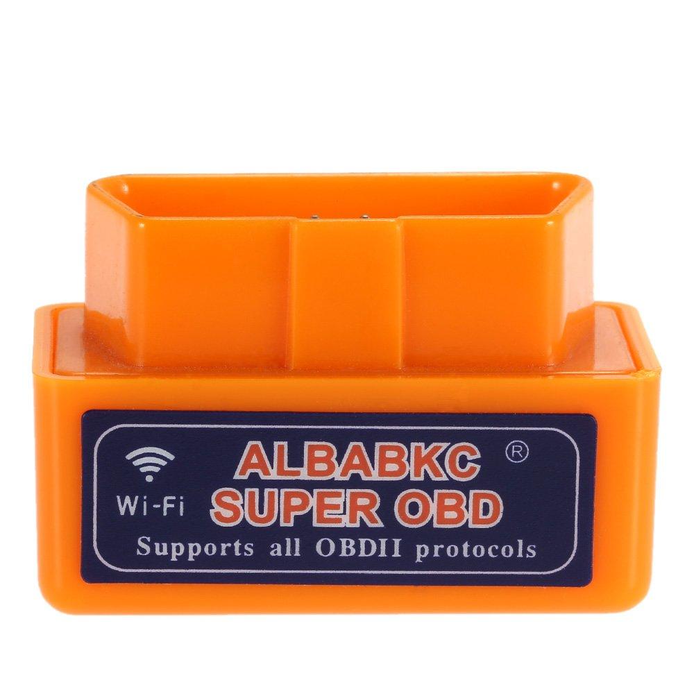 ALBABKC WiFi OBD OBDII Auto Diagnóstico Herramienta Escáner Lector de Código Compatible con Smartphone Android iOS: Amazon.es: Coche y moto