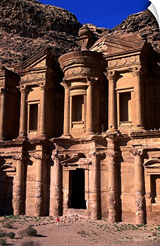 Canvas on Demand Wall Peel Wall Art Print entitled Al Deir or The Monastery in Petra ()