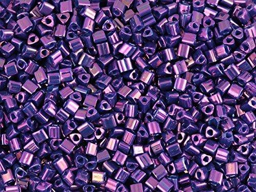 TOHO Bead Triangle 11/0 Higher-Metallic Royal Purple