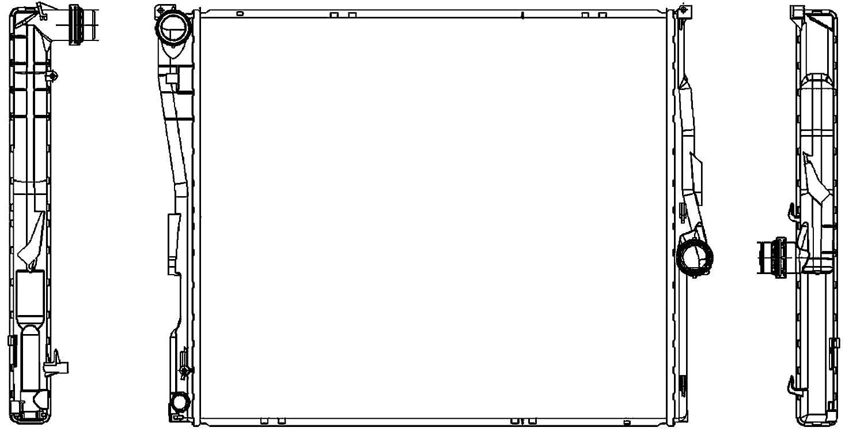 refrigeraci/ón del motor BEHR HELLA SERVICE 8MK 376 764-771  Radiador