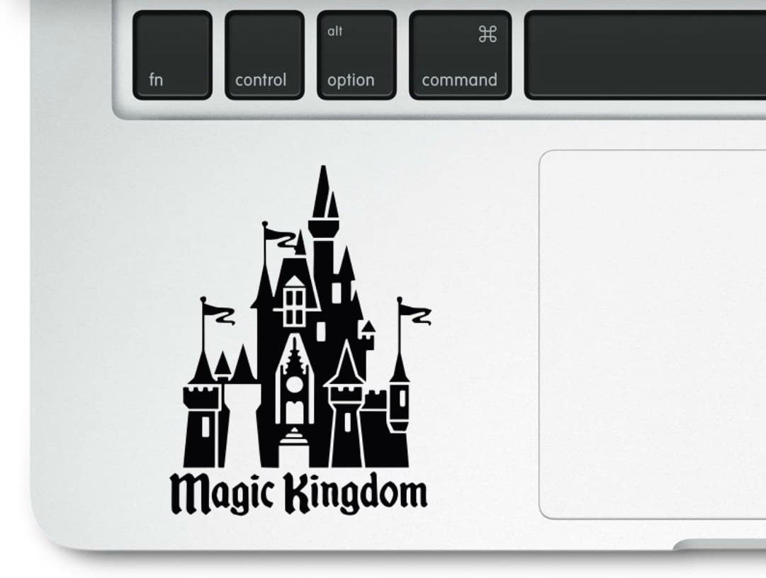 Magic Kingdom Castle Clear Vinyl Printed Decal Sticker for Laptop MacBook Compatible with All MacBook Retina, Pro and Air Models Trackpad Mickey Mouse Princess