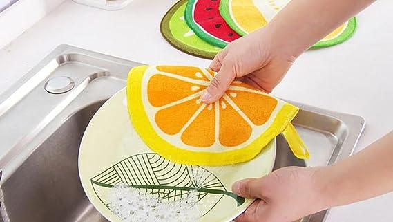 nikgic 4 pieza Frutas Pattern Microfibre Toallas de mano Niños funda Toalla Clean Absorbent para Home Cocina Coffee Shop Hotel Use: Amazon.es: Hogar