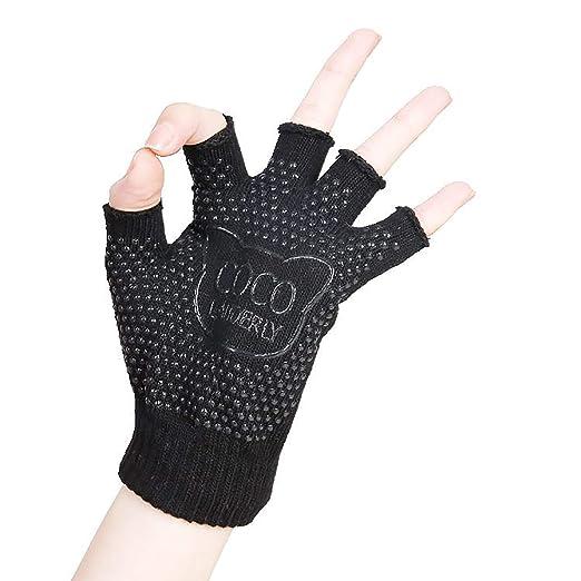Amazon.com: ERJO Yoga Pilates Gloves Non-Slip Grip with ...