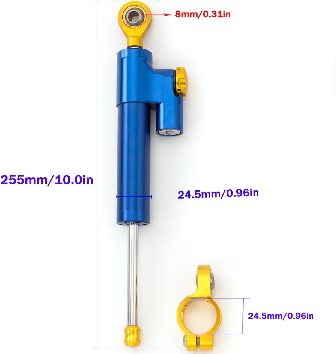 CBR1000R 2008-2016 CBR954RR 2002-2003 CB1300 03-11 Motorcycle Adjustable Universal Steering Damper Stabilizer Control for Honda CBR600RR 2005-2016 CB600F Hornet 07-16 CBR650R CBR650F 2014-2016