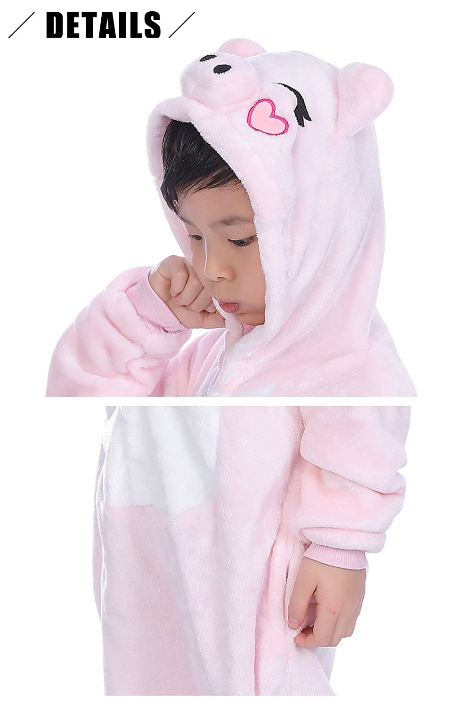 Ropa de Dormir Halloween Cosplay Navidad Animales de Vestuario YAOMEI Ni/ños Unisexo Onesies Kigurumi Pijamas Ni/ña Traje Disfraz Animal Pyjamas