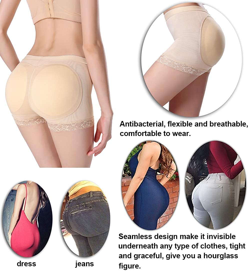 3102aeed3 Jenbou Womens Butt Lifter Shapewear Enhancer Padded Control Panties  Boyshort Seamless Briefs Fake Buttock Hip Lace