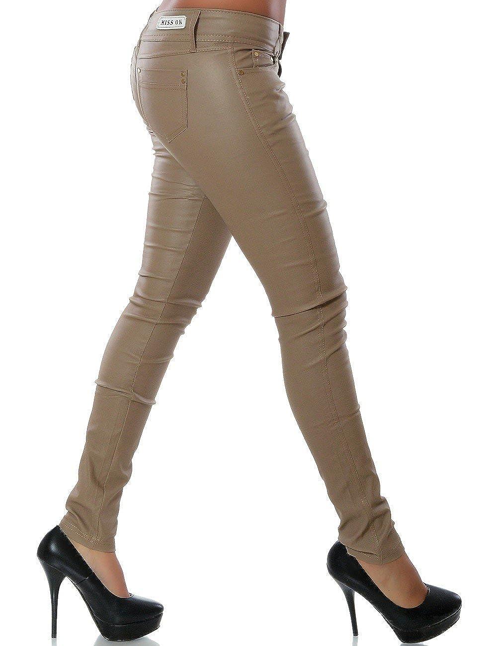 Pantaloni skinny da donna in ecopelle 12927