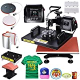 PNR 5-in-1 Digital 12''x15'' Heat Press Machine LCD Timer Counter Sublimation Transfer for T-Shirt Plate Mug Hat