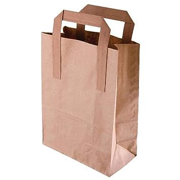 Paquete de: 250 Bolsas de papel reciclado marrón Grandes ...