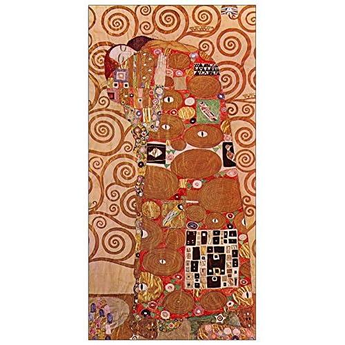 ArtPlaza Klimt Gustav - Embrace Panneau Décoratif, Bois, Multicolore, 50 x 1.8 x 100 cmAS90273