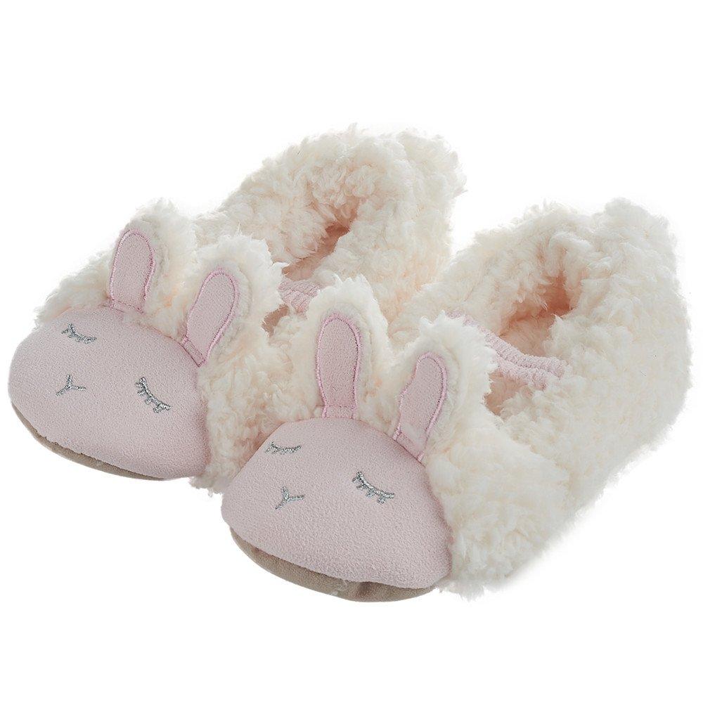 LA PLAGE Child Rabbit Antiskid Cotton Household Warm Cartoon Slippers Size Toddler 8-9 US Pink