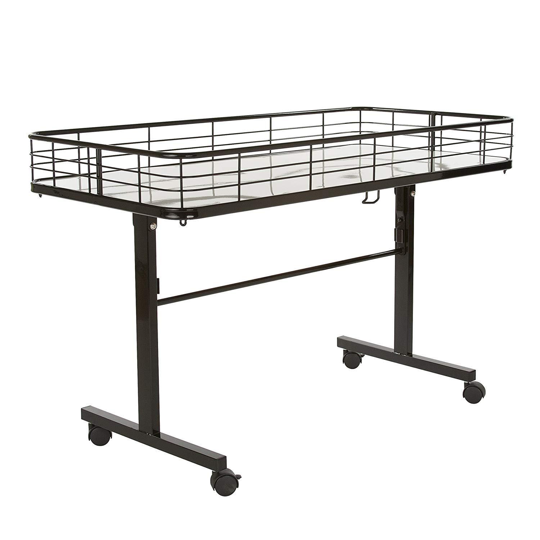 Econoco Commercial Folding Dump Table, Black