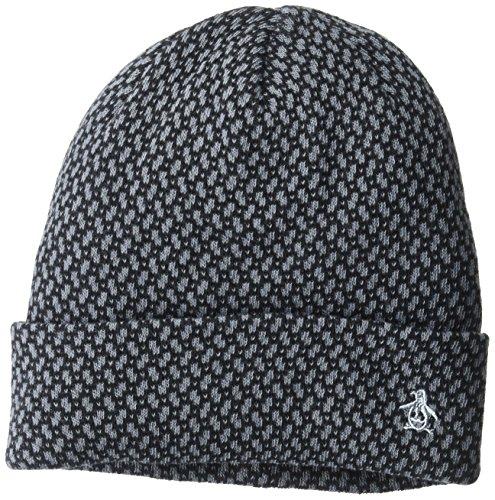 Original Penguin Men's Cotton Dot Watchcap, Dark Sapphire, OSFA - Penguin Dots