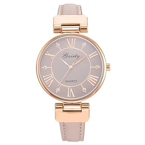 orliverhl elegante de la mujer romana Digital Dial Cuarzo Reloj, bañado en oro rosa reloj