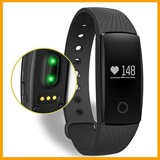 Pulseras de fitness,Smart band pulso Monitor Pulsera Fitness Tracker remota cámara para Android iOS tracker de Bluetooth