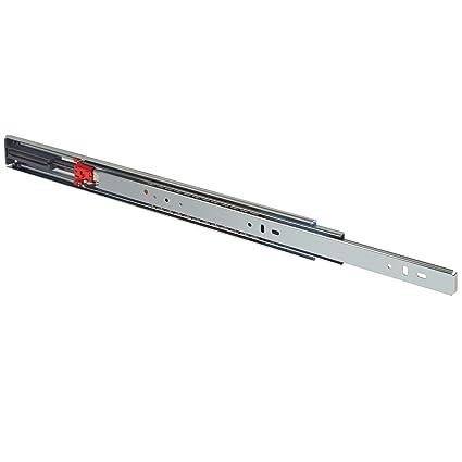 Weight Capacity Zinc Finish Fulterer 400027 FR5000 Ball Bearing Slide 100 lb 600 mm Full Extension