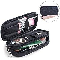 Mlmsy - Estuche para maquillaje, profesional, incluye espejo, para mujer, organizador de viaje con 2 compartimentos…