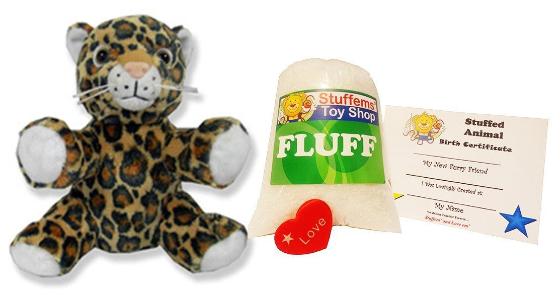 Stuffems Toy Shop No Sewing Required Make Your Own Stuffed Animal Mini 8 Inch Super Soft Spotted Leopard Kit