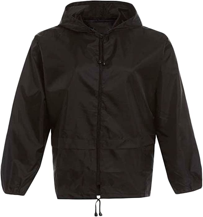 ca3743a390d6 Kids Unisex Plain Kagool Raincoat Boys Girls Childrens Waterproof ...