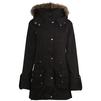 812b32de1 Girls Fur Lined Hooded Zipped Jacket Kids Hood Fleece Lined School ...
