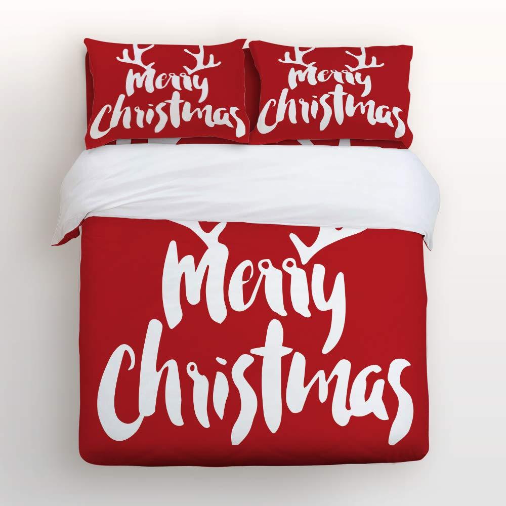 Prime Leader 寝具4点セット クリスマス装飾スタイル 掛け布団カバーセット ウルトラソフト お手入れ簡単 シーツキルトセット 装飾枕カバー付き 子供 大人用 ツイン 20180921huzhiyuanPMSCRY00697SJTAPLR B07J6H9NFY Christmas-020 ツイン