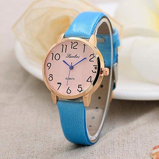 Scpink Relojes de Cuarzo de Las Mujeres Reloj de Pulsera Simple ...